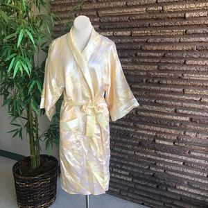 Chinese Vintage Yellow Dragon Reversible Robe